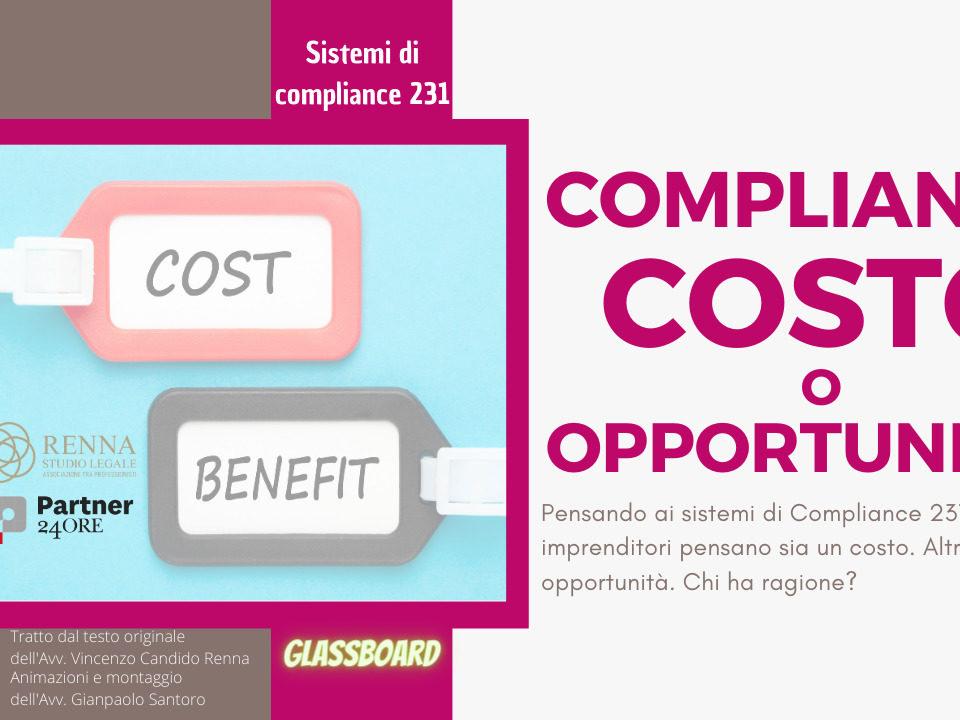Compliance 231: costo o opportunità