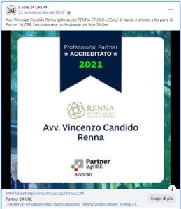 Vincenzo Renna Partner24Ore de Il Sole 24 Ore