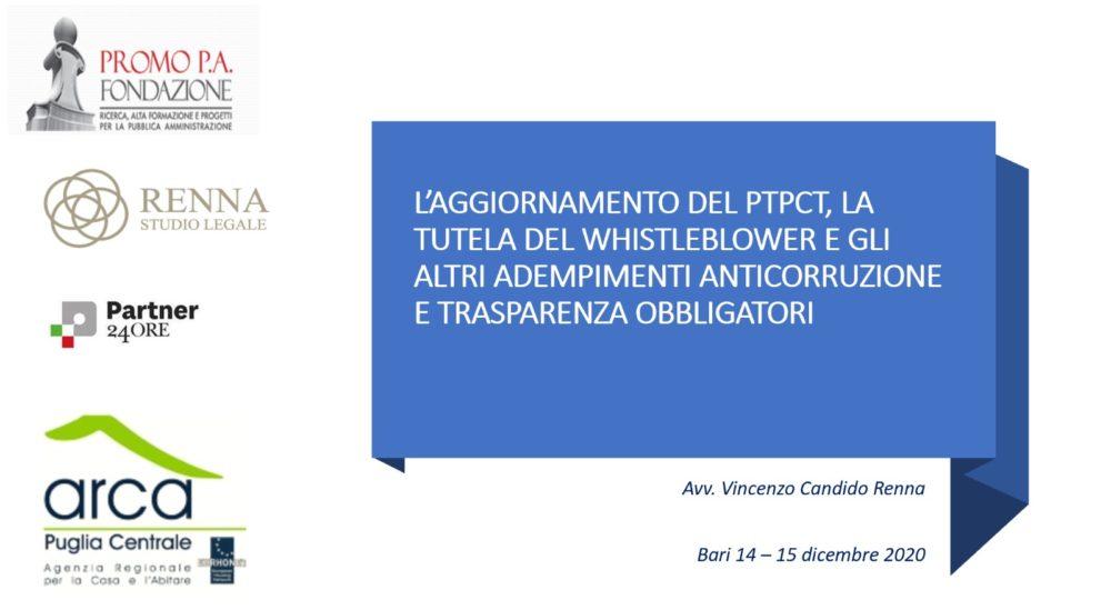 Corso di formazione ARCA Puglia