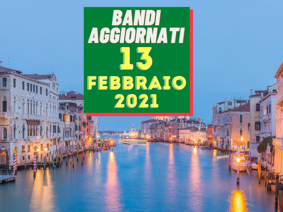 Bandi aggiornati 13 febbraio 2021