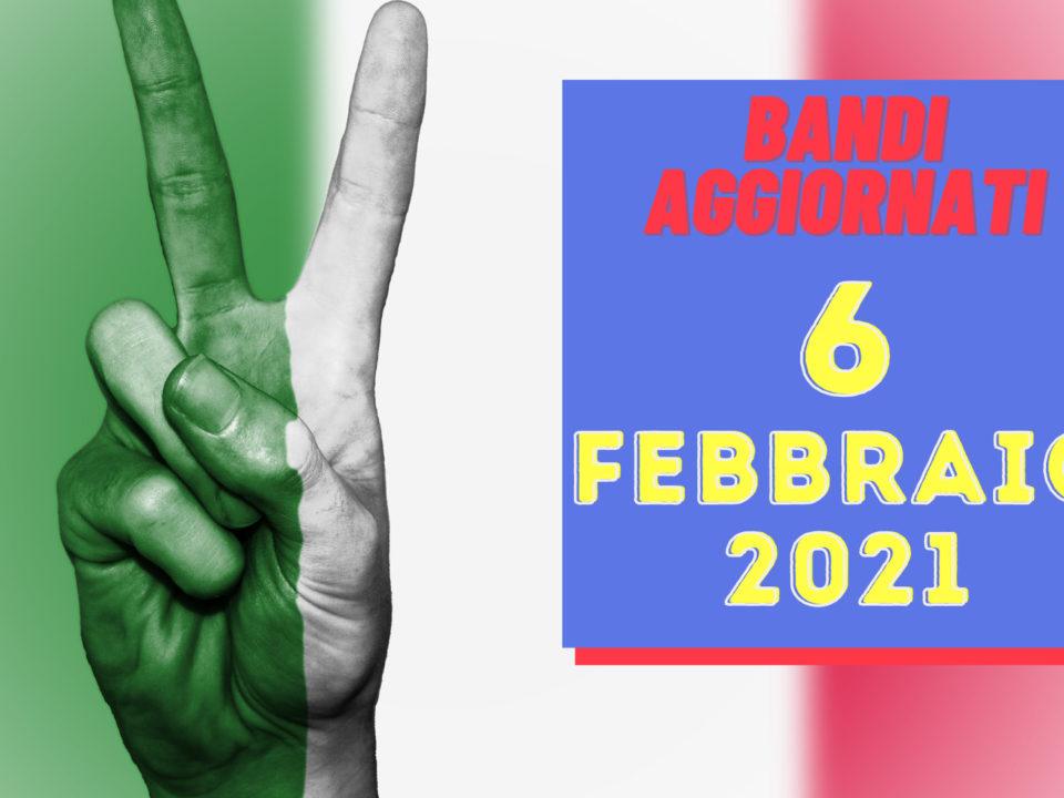 Bandi aggiornati al 6 febbraio 2021