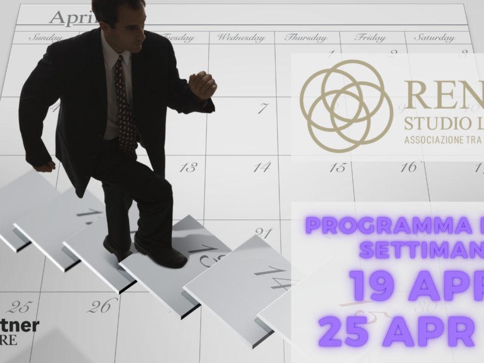 Settimana 19 - 25 aprile