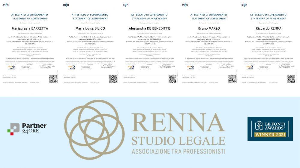 Attestati Auditor ISO 37001